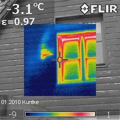 IR-Thermogramm im Echtbild